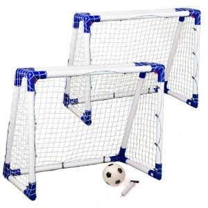 køv 2 x juniorfodboldmål med plastramme