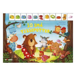 sød bog handler om 10 søde små dyrebørn og pottetræning