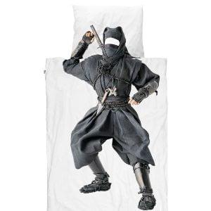 Sejt Snurk sengetøj i hvid med et print på dynen