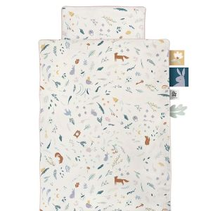 køb Sebra sengetøj i cremehvid med alloverprint