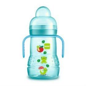 Spildsikker flaske med ekstra blød drikketud og gribevenlige håndtag