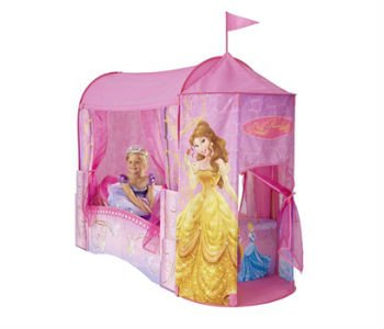 Køb en lyserød prinsesse seng med himmel