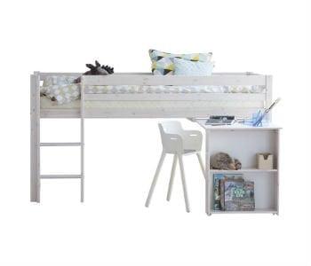 Køb en billig halvhøj seng med skrivebord