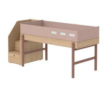 Køb en halvhøj seng med opbevaring i trappen