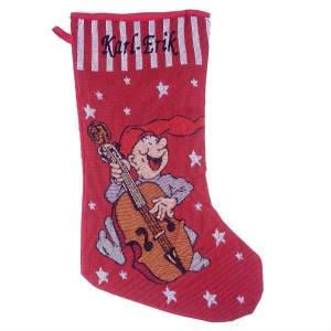 strikket julesok med navn