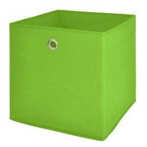 Brug en enkel rumdeler og kasser til barnets legetøj