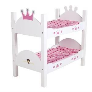 køb den søde prinsesse køjeseng til dukker
