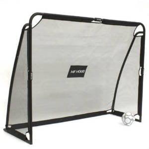 fodboldmål i galvaniseret stål med flot sort pulverlakering og tilhørende net