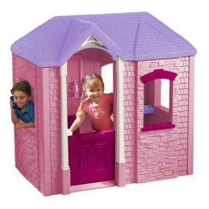 køb det søde pink plast legehus
