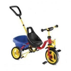 Pukys seje trehjulet cykel med lad og skubbestang