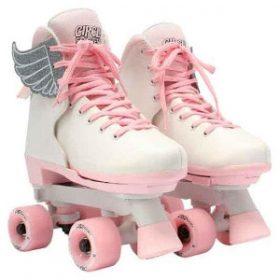Børne side by side rulleskøjter, pink vanilla str. 34-39