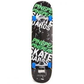 skateboard er fremstillet af træ, aluminium og plastik